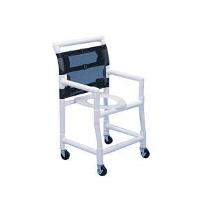 """PVC Shower Commode Chair 38-1/2"""""""" H x 22"""""""" W x 22-3/4"""""""" D HMPSC6013D"""