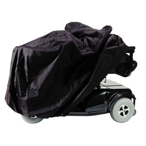 """Homecare Products Scooter and Power Chair Cover 50"""" x 22"""" x 33"""" Black, Nylon, Elasticized Reinforced Seams HN0125BK"""