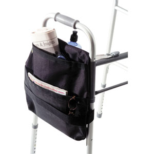 "Homecare Products Walker Carry On Side Mount, 14-1/2"" L x 15"" x 2-1/2"" D, Black HNEZ0030BK"