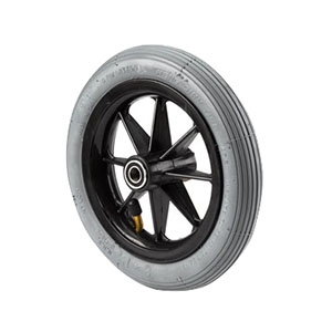 "Composite Caster Wheel 8"" x 1"", Light Grey, Solid Rubber INV1058137"