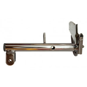 Invacare Front Rigging Hanger Assembly with Plug Button Left, Hemi, Black, Pin Style, For Power Wheelchair INV1124402