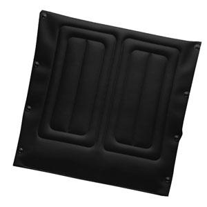 "Black Nylon Back Upholstery, 18"""" x 16"""" Chair INV1127482"