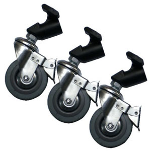 Invacare Caster with Wheel Lock Kit INV1132264