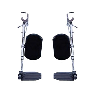"Invacare Swingaway Elevating Legrest with Aluminum Footplates, 3-1/2"" Hanger Pin Spacing INVT94AA"