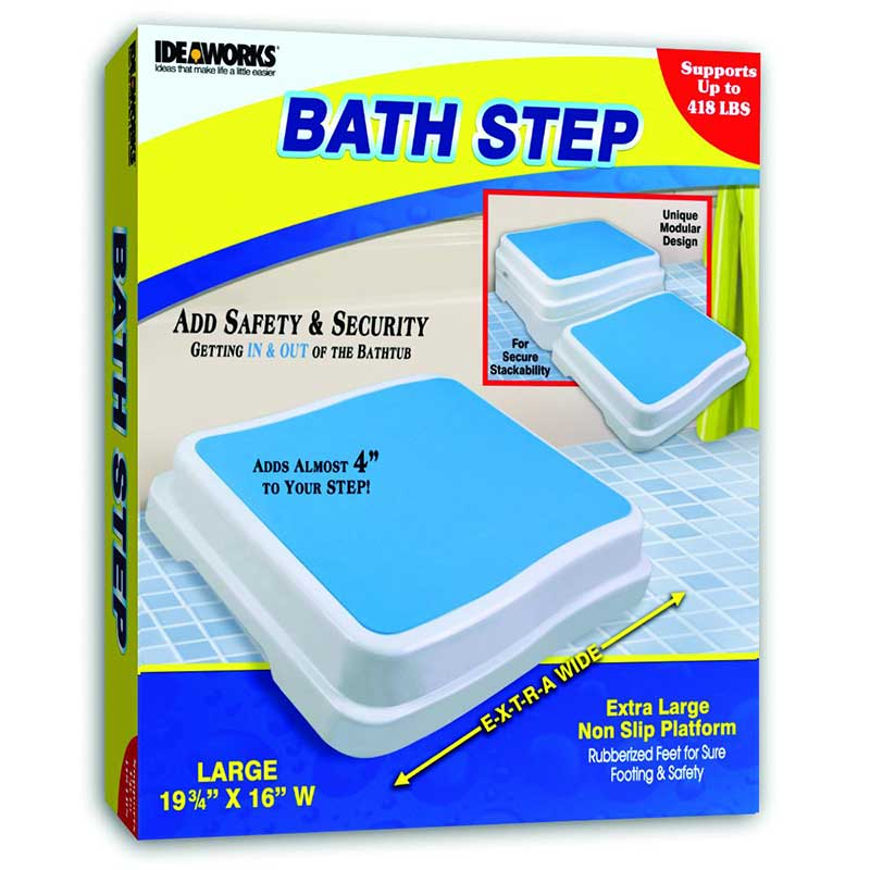 "Jobar Bath Step 19-3/4"" x 16"" Platform, Supports Up to 418 lb JIIJR5539"