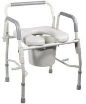 Deluxe Steel Drop-Arm Commode with Padded Seat KG11125PSKD1