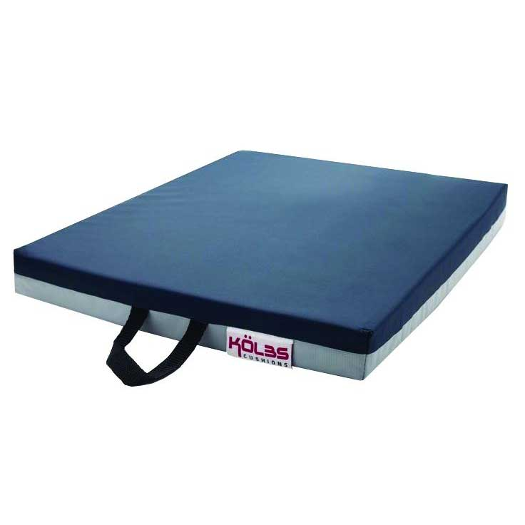 "K2 Health Products General Use Gel Wheelchair Seat Cushion 16"" L x 16"" x 2"" H, Leak-Proof Bladder, Premium Foam KHPKBGUG1616"