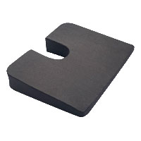 "K2 Health Products Super Compressed Coccyx Cushion 18"" x 14-1/2"" x 3"" Premium Foam, Cut-Out KHPKCMPCC"