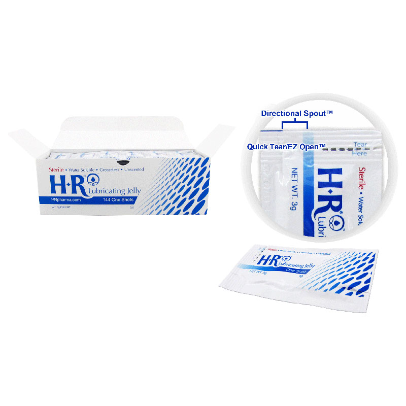 HR Pharmaceuticals Lubricating Jelly, One Shot Packet 3g LJ207