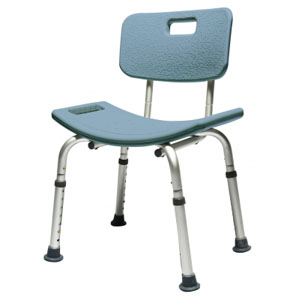 "GF Health Lumex Platinum Collection Bath Seat with Backrest Steel 22"" H x 20"" x 19"" D Blue, 350 lb Weight Capacity LS7921RB"