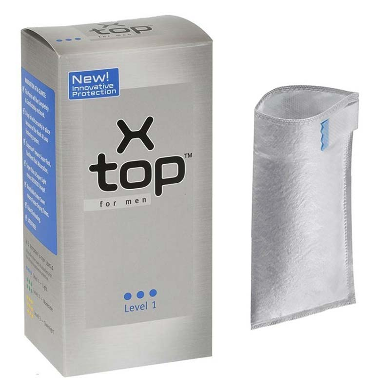 X-Top Absorbent Pouches For Men 50ml Level 1, Light MCDXTOP50