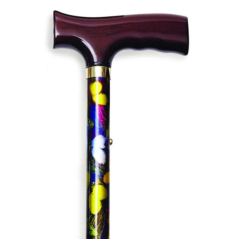 Alex Orthopedic Folding Travel Cane with Fritz Handle Butterfly MNT10510