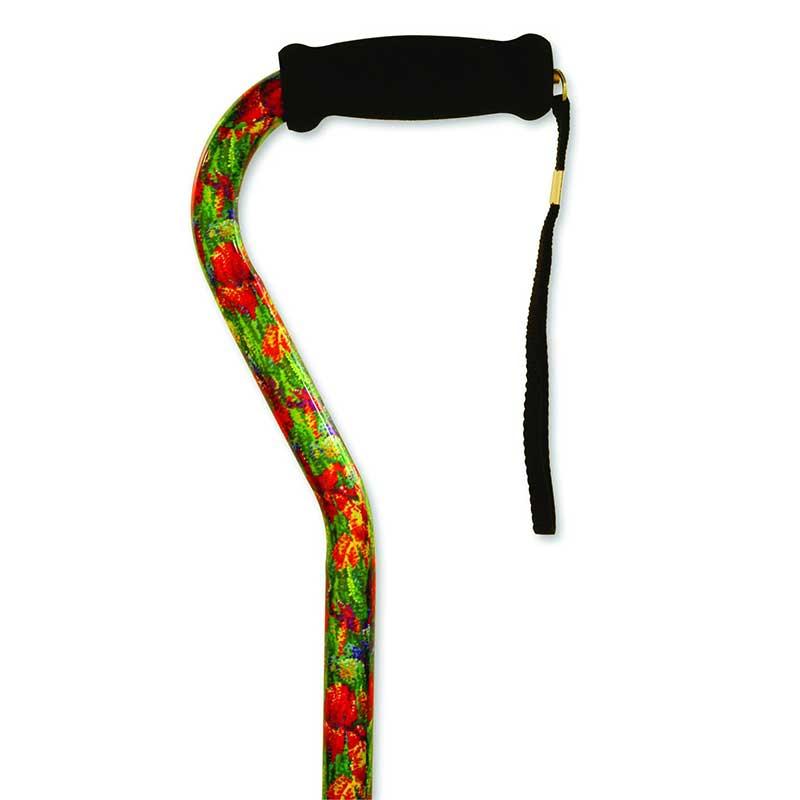 Alex Orthopedic Offset Handle Cane Summer Garden MNT10912
