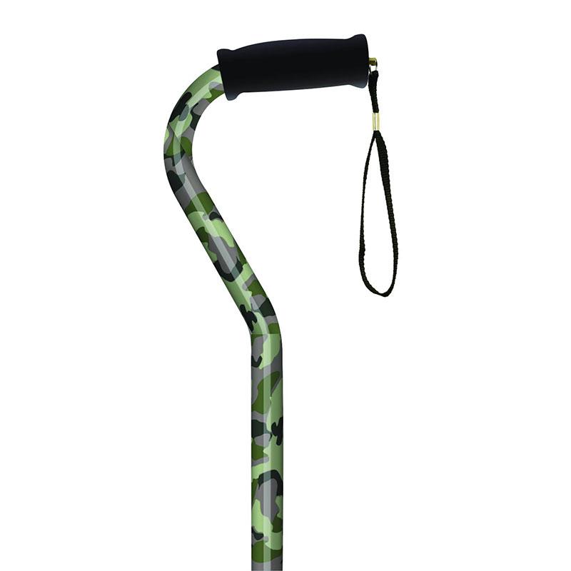 Alex Orthopedic Offset Handle Cane Camouflage MNT21164