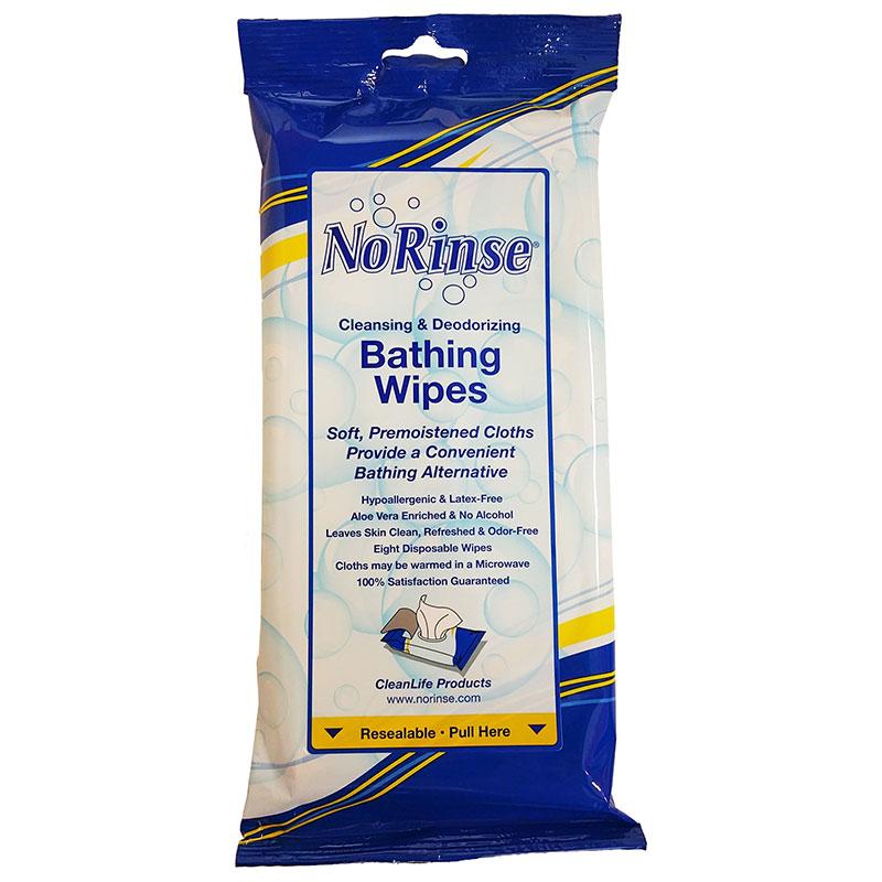 """No-Rinse Bathing Wipes 8"""" x 8"""" NR01000"""