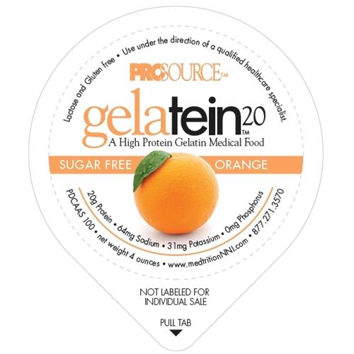 Prosource™ Gelatein 20 Orange Protein 4 oz Cup, 18-Month Shelf Life, 88 Cal NS11691