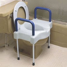 Extra Wide Tall-Ette Elevated Toilet Seat with Aluminum Legs NV725881000