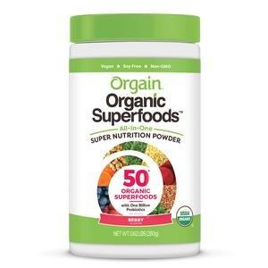 Orgain Organic Superfoods All-In-One Super Nutrition Powder, Berry Flavor, 0.62 lb Canister ORG851770003988