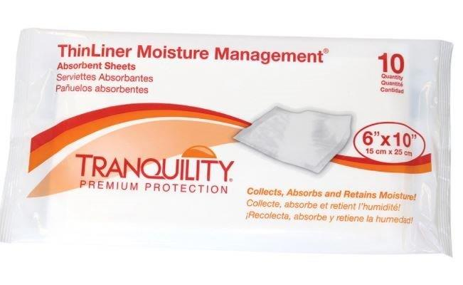 """Tranquility ThinLiner Moisture Management Absorbent Sheets, 6"""" x 14"""" PU3191"""