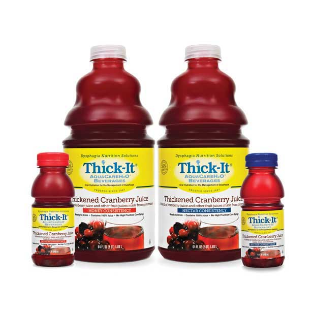 Kent Precision Foods Group Thick-It® AquaCareH2O® Thickened Cranberry Juice Nectar Consistency 8 oz. PXB459