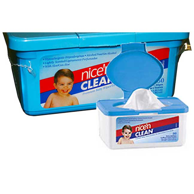 "Nice and Clean Baby Wipes Scented 7"""" x 8"""" PYM225XT"