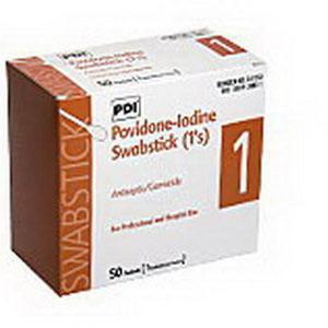 "PVP Iodine Prep 10% USP Swabstick, 4"""" PYS41350"