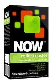 Now Roller Coaster Ribbed and Dotted Condoms QUNW00678