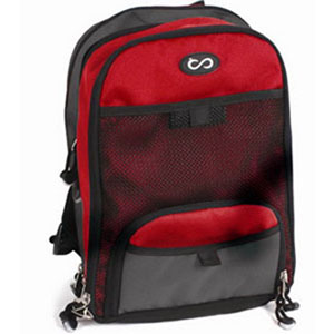 """Moog Mini Backpack EnteraLite® INFINITY® Pump Red, 13"""" H x 8"""" W x 4-1/2"""" D, Can Accommodate Either 500 ml or 1200 ml Delivery Sets QZPCK1001"""