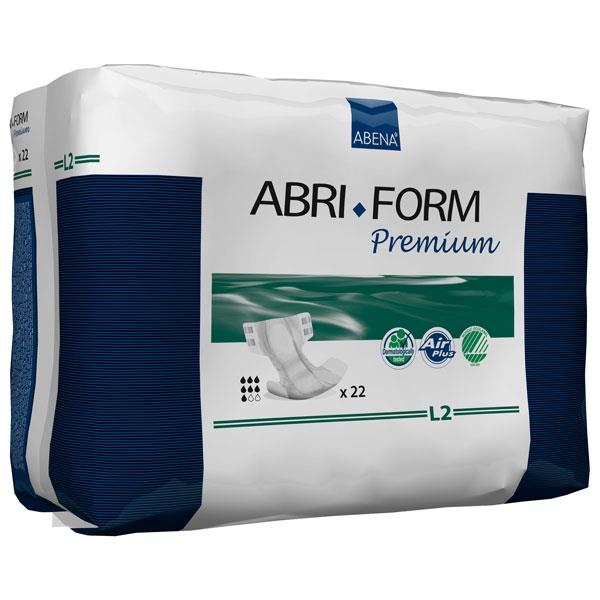 Abena Abri-Form Premium Adult Brief, Completely Breathable, 3100mL Absorbency, Size L2, Large RB43065