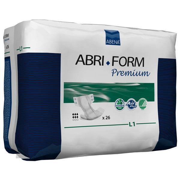 "Abri-Form Premium Adult Briefs, L1 - Large, 39 to 60"", 2500 mL RB43066"