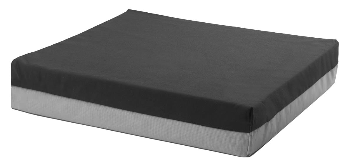 "Regency SimplIX GFST Microfiber Wheelchair Cushion 3"" H x 18"" W x 16"" D, Black, Polyester Soft Suede Top REG86761"
