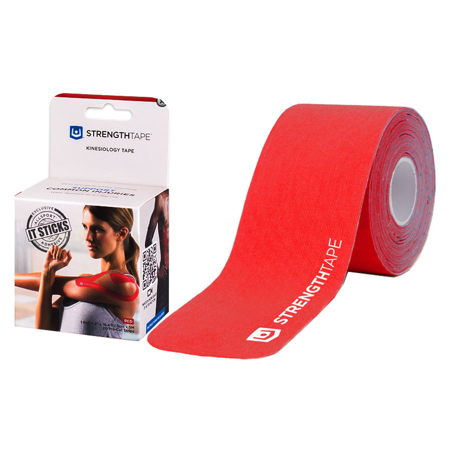 "StrengthTape Kinesiology Tape 5M Precut Roll, Red, 16'4"" L x 2"" W RM6320510PC"