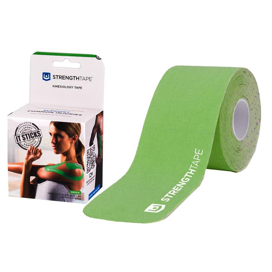 """StrengthTape Kinesiology Tape 5M Precut Roll, Green, 16'4"""" L x 2"""" W RM6370510PC"""