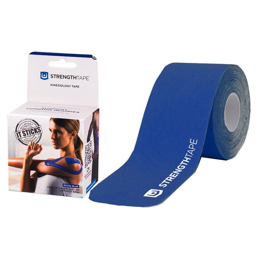 "StrengthTape Kinesiology Tape 5M Precut Roll, Royal Blue, 16'4"" L x 2"" W RM6380510PC"