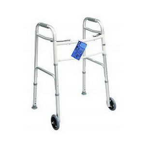 Carex Fixed Wheel Dual-button Folding Walker RMA84790