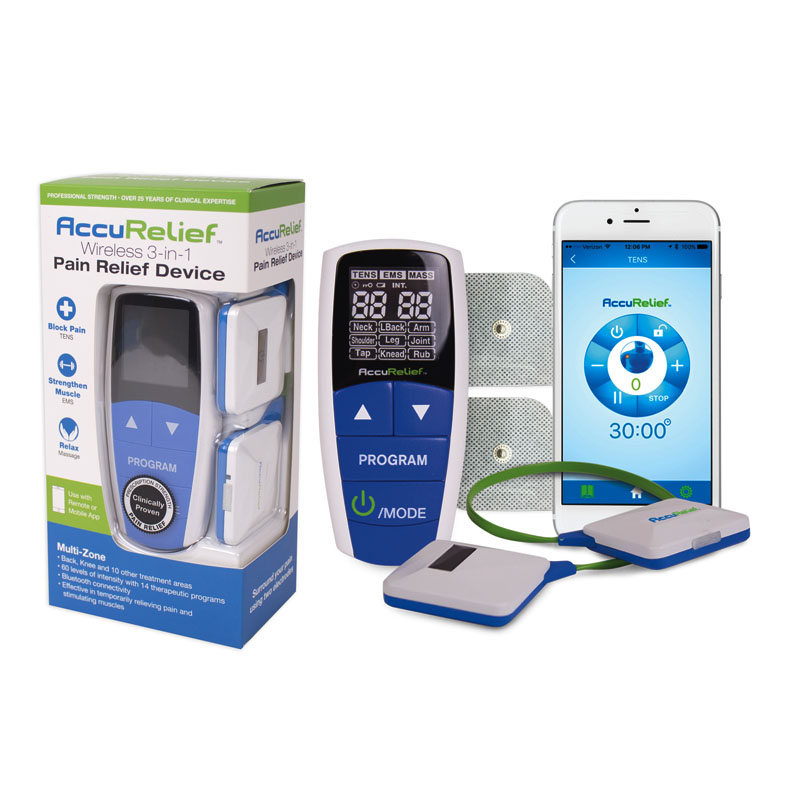 AccuRelief Wireless 3-in-1 Pain Relief Device RMACRL9100
