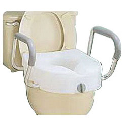 E-Z Lock Raised Toilet Seat With Arms RMB311C0