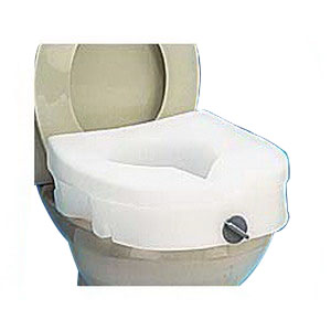 "Carex® E-Z Lock Raised Toilet Seat without Arms, 15-1/2"" W x 17"" D x 8-1/2"" H, Weight capacity: 300 lb, Added Height To Toilet: 5"" RMB312C0"