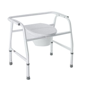 "Carex Extra Wide Steel Commode 26-1/2"" W x 20"" D x 25-1/2"" H, 400 lb Weight Capacity RMB35511"