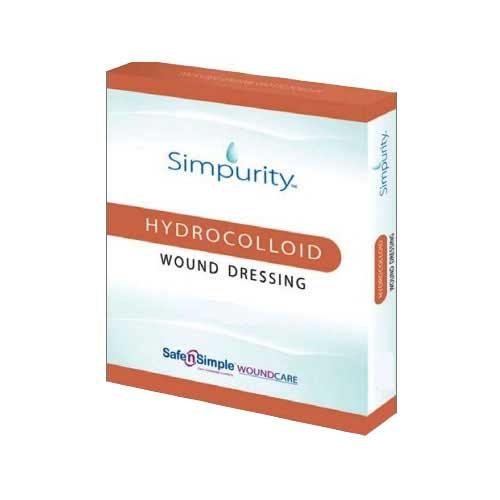 "Safe N' Simple Simpurity™ Hydrocolloid Wound Dressing, 4"" x 4"" RRSNS55404"