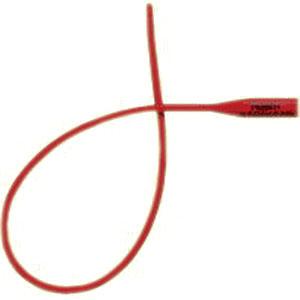 "Teleflex Medical Red Rubber Latex Robinson/Nelaton Catheter 10Fr 16"" L, Sterile, Single-use RU351010"