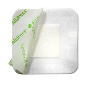 "Alldress Absorbent Film Composite Dressing 6"" x 6"", 4"" x 4"" Pad Size SC265349"