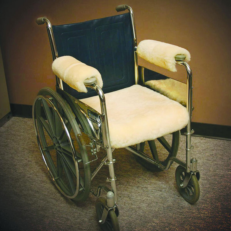 "Sofsheep Sheepskin Wheelchair Armrest Cover, Short, 9-1/2"""" x 5"""", Beige SHP113"