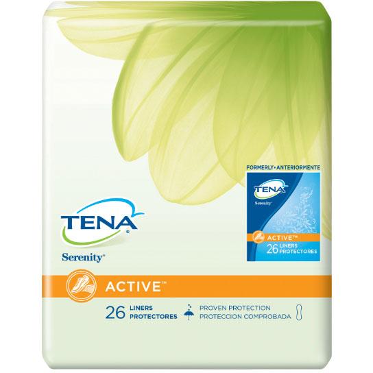 """TENA® Serenity® ACTIVE™ Regular Pantiliners, Adhesive Strip, 8"""" SQ56300"""