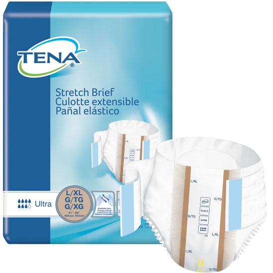 """TENA Stretch Ultra Brief Large/X-Large 41"""" - 64"""" SQ67803"""