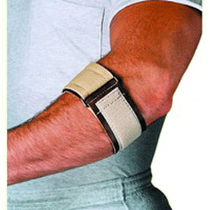 "Scott Specialties Tennis Elbow Wrap with Loop Lock Closure Universal Beige, 3"" W, 7"" to 15"" Forearm Circumference SS1963"