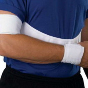 "Scott Specialties CMO Male Elastic Shoulder Immobilizer Extra-Large White, 42"" to 48"" Chest Circumference SS2500MXL"