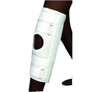 "Scott Specialties Deluxe Knee Immobilizer Small 16"" L, 9-3/4"" to 12-3/4"", White SS3216SM"