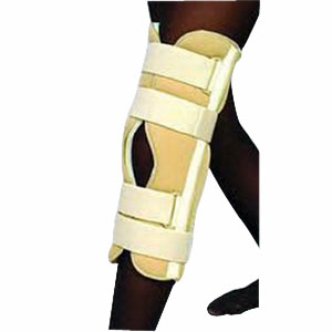 "Scott Specialties Knee Immobilizer Universal with 7 Stays 12"" L Patella Strap, White SS3612"