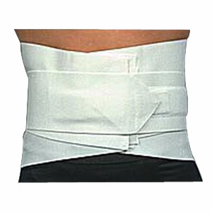 "Scott Specialties Lumbosacral Support with Single Tension Strap Medium 34"" to 36"" Waist, 10"" W Back Support, 4"" W Strap, Flexible, White SS3888MD"